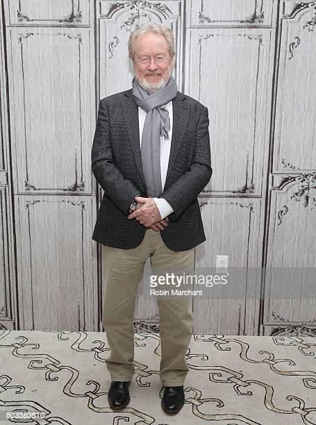 Sir Ridley Scott attends AOL BUILD Series Drew Goddard And Sir Ridley Scott 'The Martian' at AOL Studios In New York on January 4 2016 in New York...
