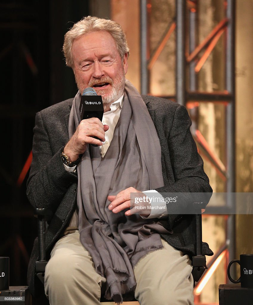 Sir Ridley Scott attends AOL BUILD Series: Drew Goddard And Sir Ridley Scott, 'The Martian' at AOL Studios In New York on January 4, 2016 in New York City.