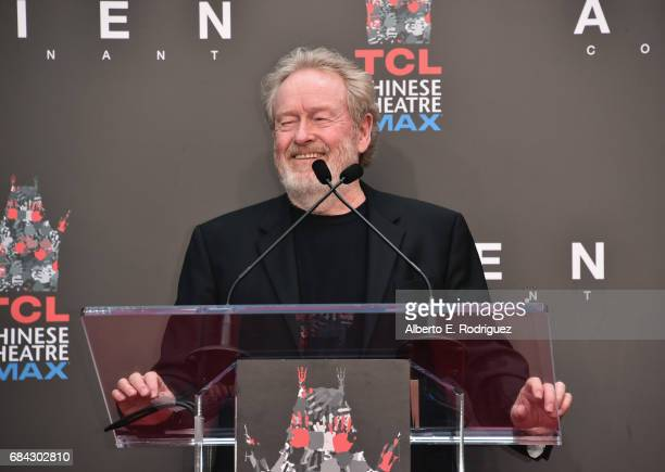 Sir Ridley Scott attends his hand and footprint ceremony at TCL Chinese Theatre IMAX on May 17 2017 in Hollywood California