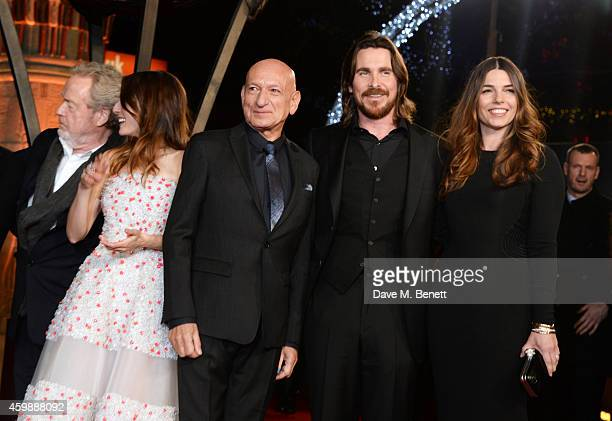 "Sir Ridley Scott; Maria Valverde, Sir Ben Kingsley, Christian Bale and Sibi Blazic attend the World Premiere of ""Exodus: Gods and Kings"" at Odeon..."