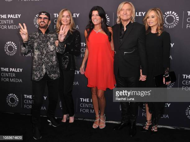 Sir Ringo Starr Barbara Bach Maureen J Reidy Joe Walsh and Marjorie Walsh attend the Paley Center for Media's 'Paley Honors In Hollywood A Gala...