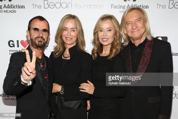 Sir Ringo Starr Lady Barbara Bach Starkey Marjorie Bach Walsh and Joe Walsh attend Facing Addiction With NCADD Gala 2018 at The Rainbow Room on...