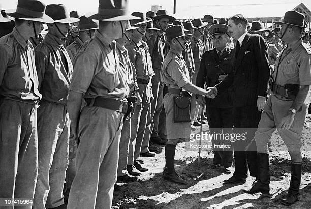 Sir Robert Anthony Eden Inspecting Empire Troops In Palestine On 1940