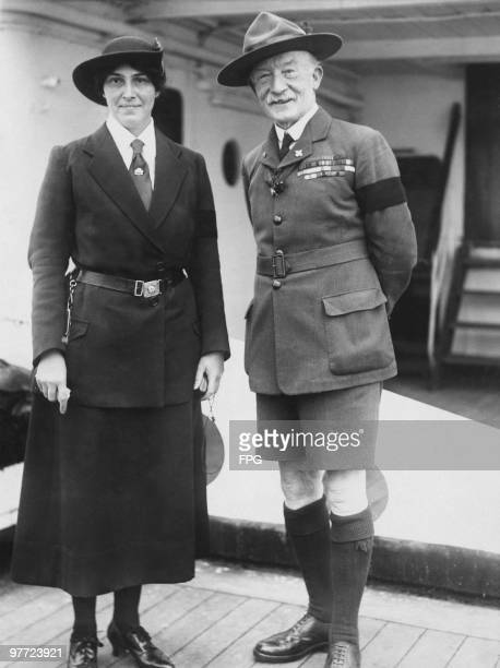 Sir Robert BadenPowell founder of the Scout Movement with his wife Olave BadenPowell circa 1925