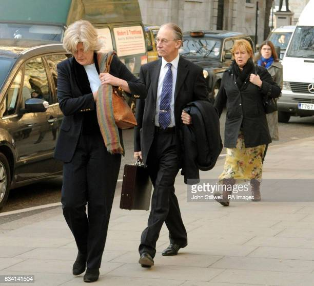 Sir Robert Fellowes and his wife Lady Jane Fellowes arrive at the High Court Sir Robert the Queen's former private secretary will today give evidence...
