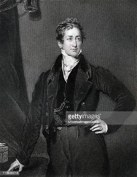 Sir Robert Peel 2nd Baronet 1788 to 1850 British prime minister 183435 and 184146 Founder of the Conservative Party Engraved by J Cochran after Sir T...