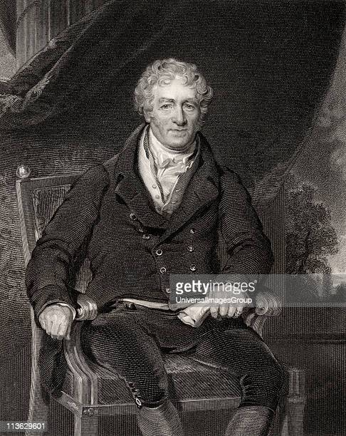 Sir Robert Peel Senior 1750 to 1830 English textile manufacturer Engraved by H Robinson after Sir T Lawrence From the book National Portrait Gallery...