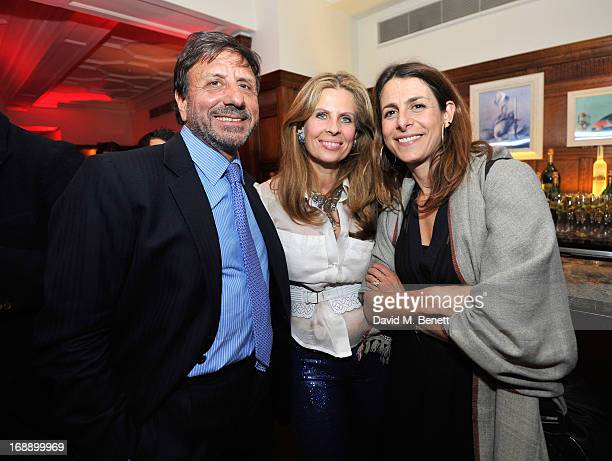 Sir Rocco Forte Aliai Forte and Charlie Peyton attend the 175th Anniversary party of Brown's Hotel at Rocco Forte's Brown's Hotel on May 16 2013 in...