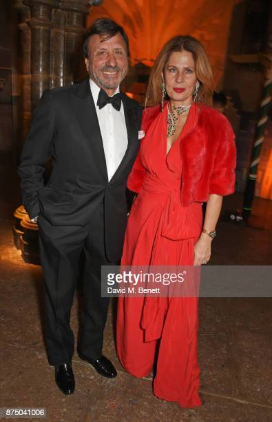 Sir Rocco Forte and Aliai Forte attend Save The Children's Magical Winter Gala celebrating the 20th anniversary since the publication of the first of...
