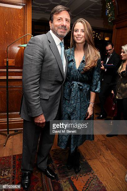 Sir Rocco Forte and daughter Lydia attend the Smythson x Brown's Hotel festive launch party at Brown's Hotel on December 1 2016 in London United...