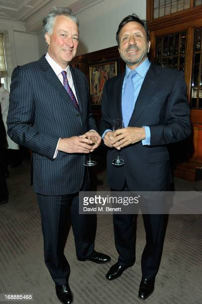 Sir Rocco Forte and guest attend the 175th Anniversary party of Brown's Hotel at Rocco Forte's Brown's Hotel on May 16 2013 in London United Kingdom