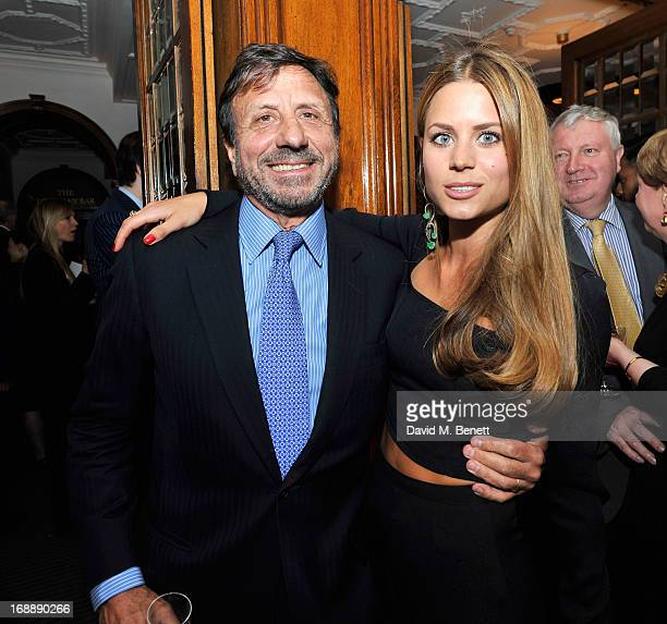 Sir Rocco Forte and Irene Forte attend the 175th Anniversary party of Brown's Hotel at Rocco Forte's Brown's Hotel on May 16 2013 in London United...