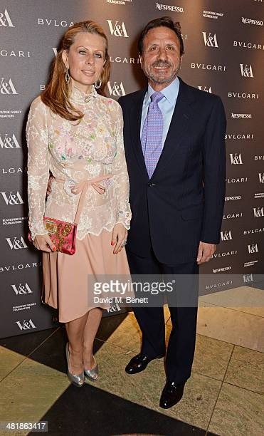 Sir Rocco Forte and wife Aliai Forte attend a private dinner celebrating the Victoria and Albert Museum's new exhibition 'The Glamour Of Italian...
