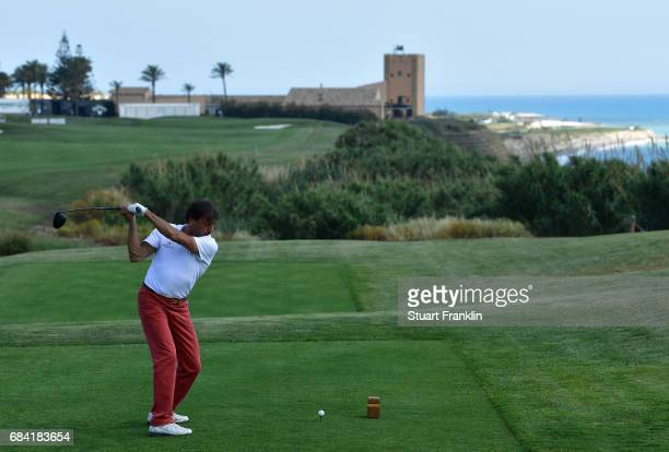 Sir Rocco Forte plays a shot during the pro am prior to the start of The Rocco Forte Open at Verdura Golf and Spa Resort on May 17 2017 in Sciacca...