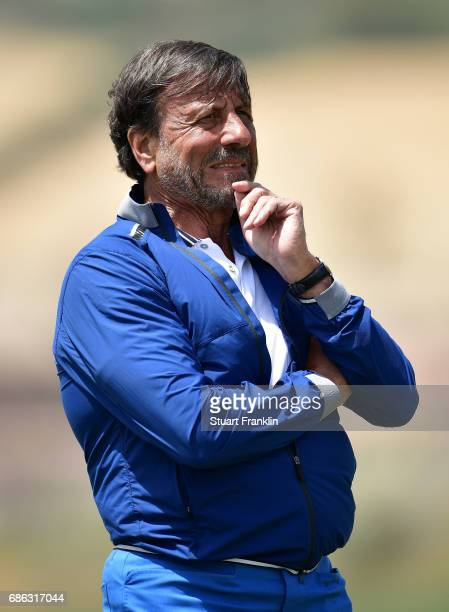 Sir Rocco Forte watches during the final round of The Rocco Forte Open at The Verdura Golf and Spa Resort on May 21 2017 in Sciacca Italy