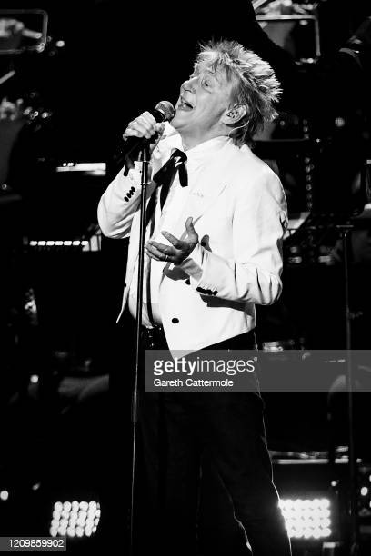 Sir Rod Stewart performs during The BRIT Awards 2020 at The O2 Arena on February 18, 2020 in London, England.