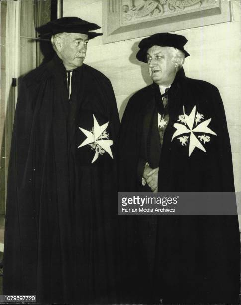 Sir Roden Cutler and Sir John Kerr at Government House after the investitureThe Governor of NSW and Deputy Prier of the Order of St John Sir Roden...