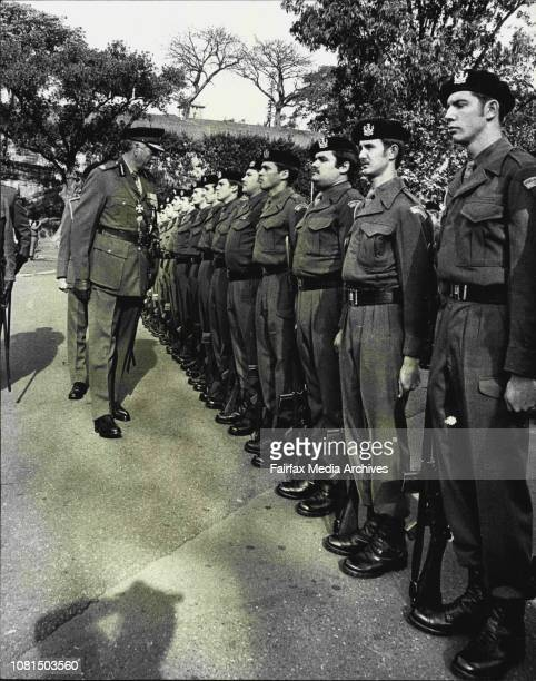 Sir Roden Cutler inspecting the Guard of HonourCMF soldiers from Paramattas based 1/15th Royal NSW Lancers today took part in the anniversary of one...