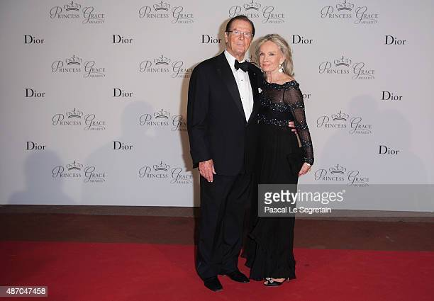 Sir Roger Moore and Kristina Tholstrup attend the 2015 Princess Grace Awards Gala With Presenting Sponsor Christian Dior Couture at Monaco Palace on...