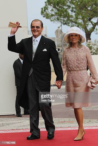 Sir Roger Moore and wife Kristina Tholstrup attend the religious ceremony of the Royal Wedding of Prince Albert II of Monaco to Princess Charlene of...