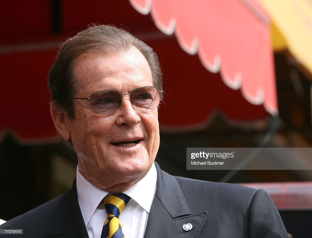 Roger Moore Honored With A Star On The Walk Of Fame