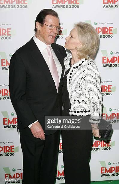 Sir Roger Moore with his wife Christina Kiki Tholstrup