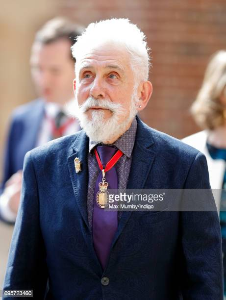 Sir Roy Strong arrives to attend Evensong at the Chapel Royal Hampton Court Palace to celebrate the Centenary of the founding of the Companions of...