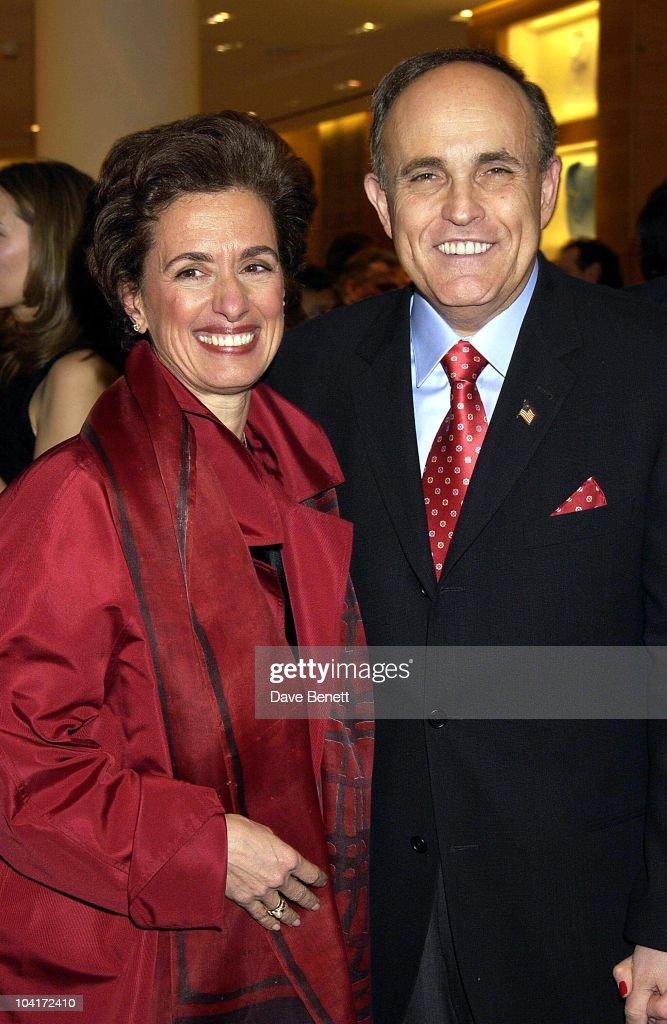 Sir Rudolph Giuliani With Mrs Bravo (burberry Host), Burberry Plays Host To Rudolph Giuliani & His Party, Burberry, Bond Street, London.