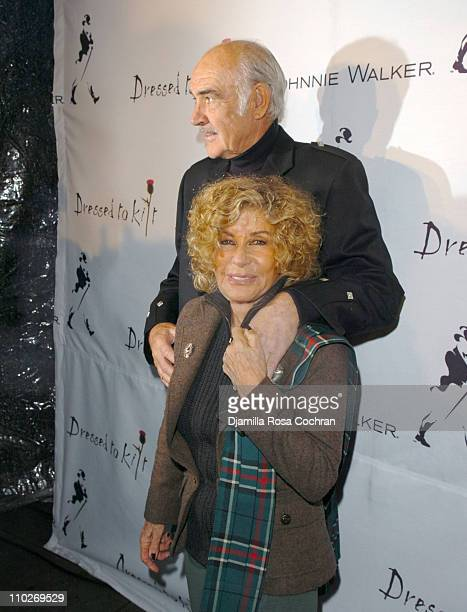 Sir Sean Connery and Lady Micheline Connery during Johnnie Walker Presents Dressed to Kilt Arrivals and Backstage at Synod House at St John the...