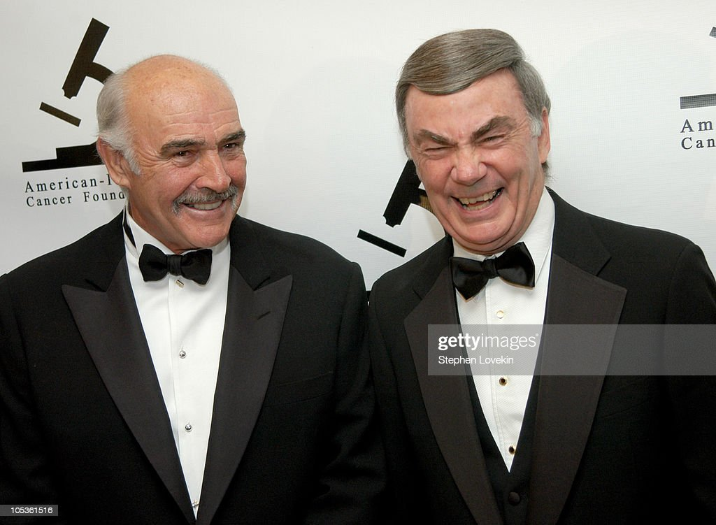 Sir Sean Connery and Sam Donaldson during American-Italian Cancer Foundation Annual Benefit Gala at The Pierre Hotel in New York City, New York, United States.