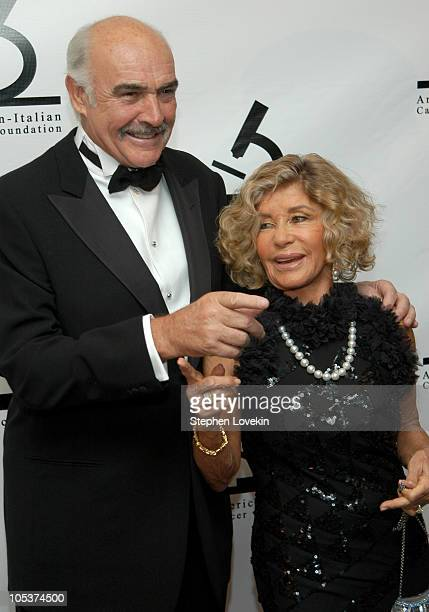 Sir Sean Connery and wife Lady Micheline Connery during AmericanItalian Cancer Foundation Annual Benefit Gala at The Pierre Hotel in New York City...