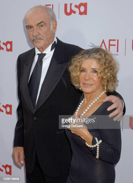 Sir Sean Connery and wife Micheline during 34th AFI Life Achievement Award Honoring Sir Sean Connery Arrivals at Kodak Theatre in Hollywood...