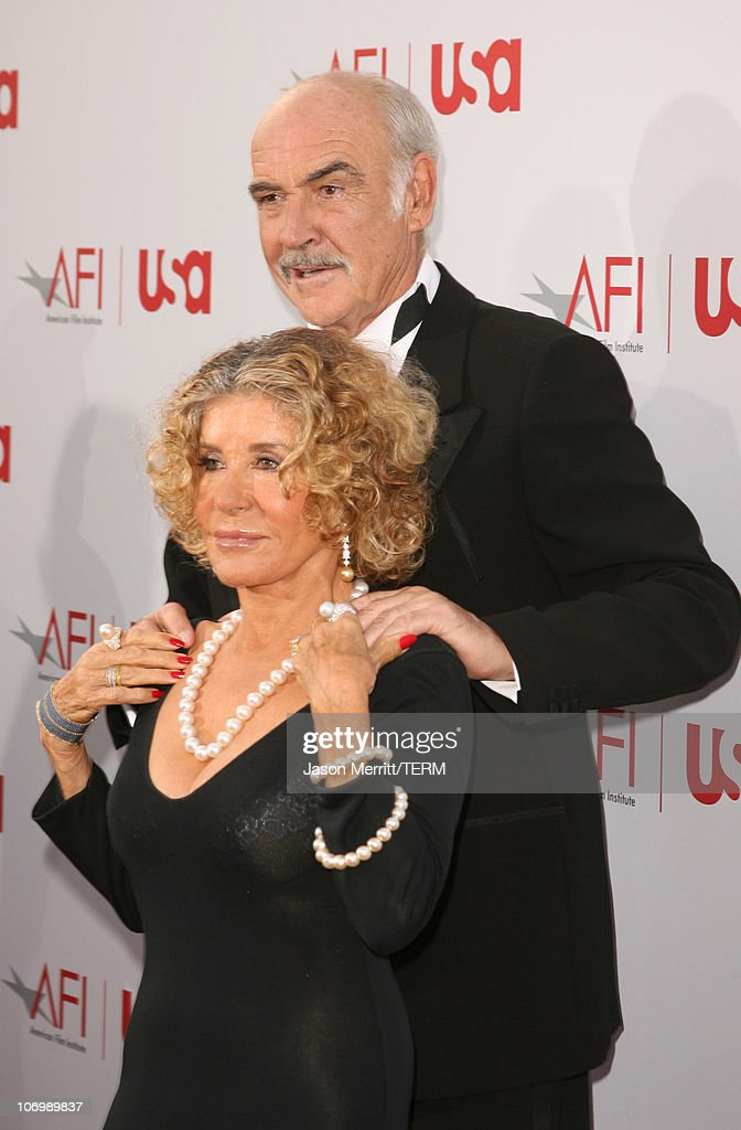 Sir Sean Connery and wife Micheline during 34th Annual AFI Lifetime Achievement Award: A Tribute to Sean Connery - Arrivals at Kodak Theatre in Hollywood, California, United States.