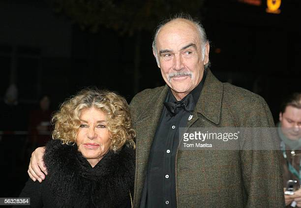 Sir Sean Connery and wife Micheline Roquebrune attend the European Film Awards 2005 at Arena on December 3 2005 in Berlin Germany