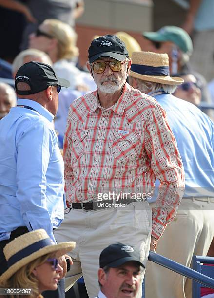 Sir Sean Connery attends the 2013 US Open at USTA Billie Jean King National Tennis Center on September 7 2013 in New York City