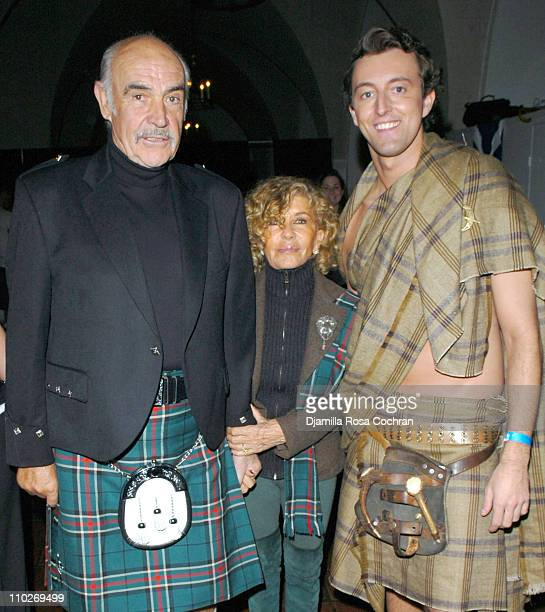 Sir Sean Connery Lady Micheline Connery and Prince Max of SchaumburgLippe