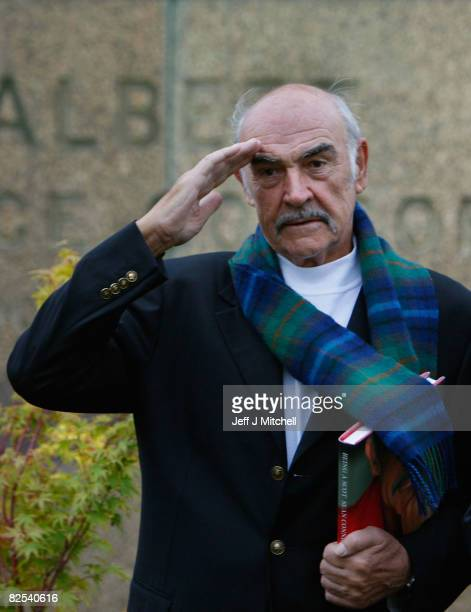 Sir Sean Connery unveils his new book entitled 'Being A Scot' at the Edinburgh book festival August 25, 2008 in Edinburgh, Scotland. The launch of...