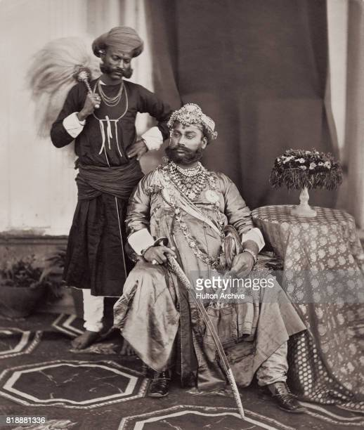Sir Shivaji Rao Holkar 12th Maharaja of Indore at the Delhi Durbar Delhi India 1877