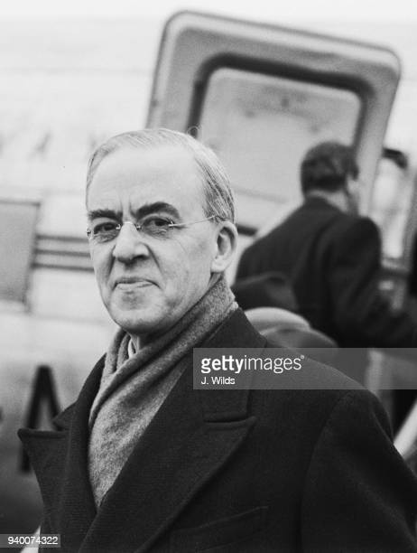 Sir Stafford Cripps Chancellor of the Exchequer leaves Northolt by air for Paris to attend the European Economic Recovery conferences 16th March 1949