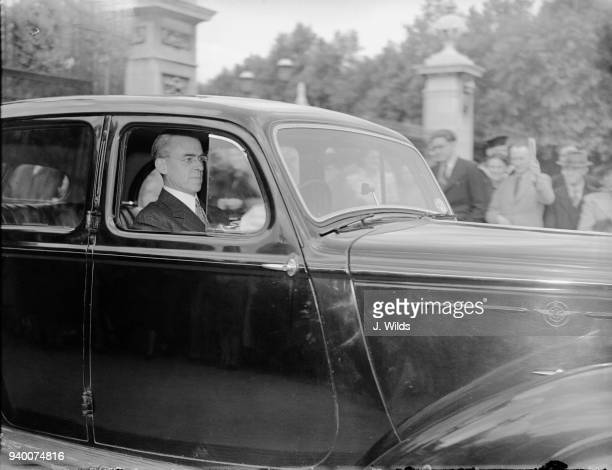 Sir Stafford Cripps the new President of the Board of Trade in the Labour government leaves Buckingham Palace in London after visiting the King 28th...