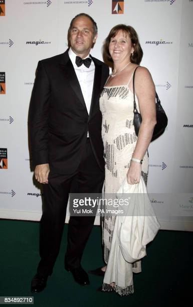 Sir Steve Redgrave and his wife Ann arriving for Ronan Keating's Emeralds and Ivy Ball in aid of Cancer Research UK at Battersea Evolution in south...