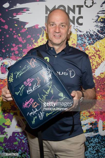 Sir Steve Regrave attends Montblanc X Laureus Sport For Good photocall at Hotel Hermitage during 2019 Laureus World Sports Awards on February 17 2019...