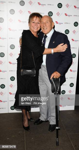 Sir Stirling Moss and his wife Susie arrive at the inaugural Motorsport Hall Of Fame held at the Roundhouse in Camden London