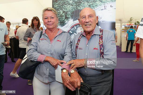 Sir Stirling Moss and his wife Susie attend the Chopard brunch during the Ennstal Classic 2015 on July 18 2015 in Groebming Austria