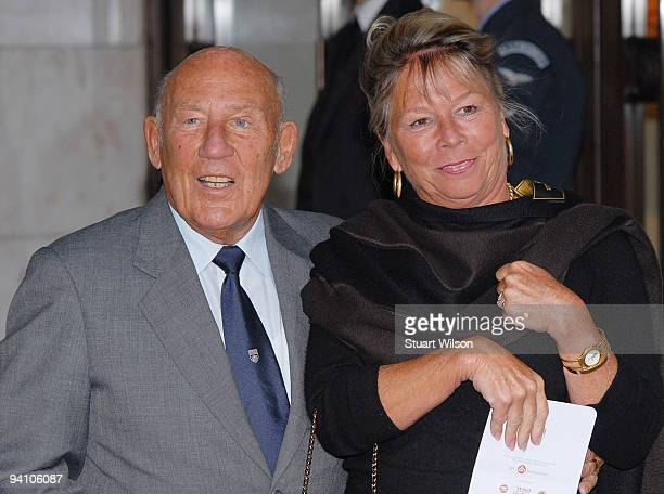 Sir Stirling Moss and wife Lady Susie Moss attend the 2009 British Racing Drivers' Club Annual Awards at Hotel Intercontinental on December 7 2009 in...