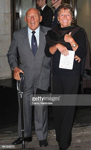 Sir Stirling Moss and wife Lady Susie Moss attends the 2009 British Racing Drivers' Club Annual Awards at Hotel Intercontinental on December 7 2009...