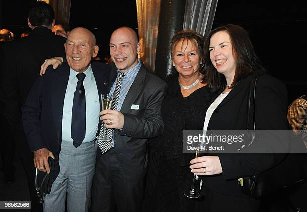 Sir Stirling Moss Elliot Moss Lady Susie Moss and guest attend the Motor Sport Hall Of Fame 2010 at The Roundhouse on February 10 2010 in London...