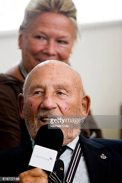 Sir Stirling Moss OBE British Former Formula One Racing Driver at the Credit Suisse Historic Racing Forum at Goodwood on September 10 2016 in...