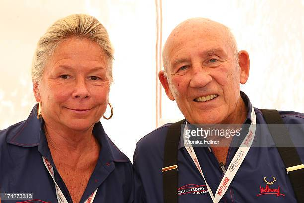 Sir Stirling Moss with his wife Susie at the Chopard VIP Brunch at the Ennstal Classic 2013 on July 20 2013 in Groebming Austria