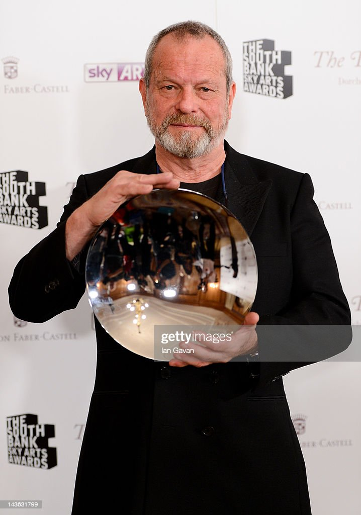 Sir Terry Gillam, winner of the opera award poses during the South Bank Sky Arts Awards at Dorchester Hotel on May 1, 2012 in London, England.
